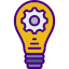 Lightbulb icon demonstrating good idea, used to highlight solution in excelquick.com website