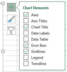 Chart Elements selector in Excel